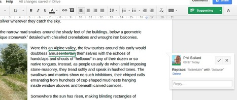 Suggesting Edits in a Google Doc   Time to Learn   Scoop.it