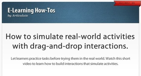 How to create interactions that simulate real-world activities | Aprendiendo a Distancia | Scoop.it