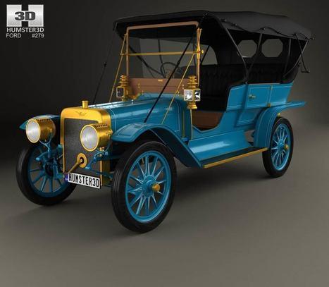 3D model of Ford Model K Touring 1906   3D models   Scoop.it