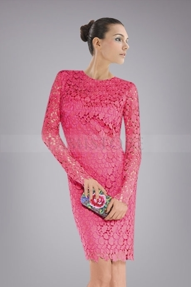Fabulous Long Sleeve Backless Cocktail Dress in Crotchet Lace : Lamistore.com | Lamistore Fashion Prom Dresses | Scoop.it