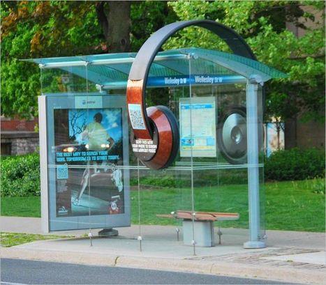 QR Code Headphones Decorate Bus Shelter | QRdressCode | Scoop.it