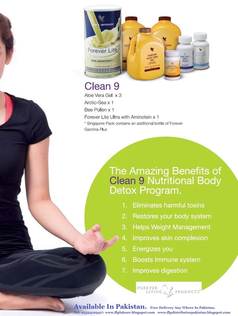 Forever Living Products In Pakistan : Why Clean 9 Is Important For Your Health. A Nine Day Nutritional Body Detox Program. Now In Pakistan | Forever Living Aloe Vera Products In Pakistan | Scoop.it