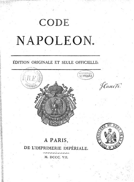 #ChallengeAZ : N comme Code Napoléon, édition originale et seule officielle | Nos Racines | Scoop.it