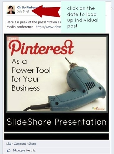 How to Easily Add Facebook Posts to Pinterest | Oh So Pinteresting | Social Media: Getting Started | Scoop.it