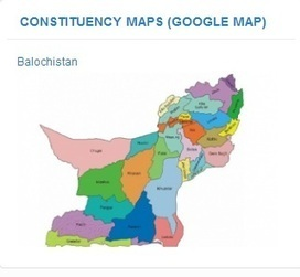 Constituencies Map (Google Map)   Pakistan Voters   Scoop.it
