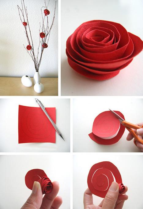 Tutorial de flores de papel en Manualidades para decorar y detalles de decoración del hogar, fiestas y eventos | Con tus propias manos - Lola | Scoop.it