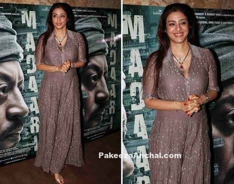 Tabu in a dotted Maxi Dress at Madaari Screening | Indian Fashion Updates | Scoop.it