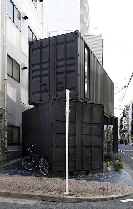 Art gallery in Tokyo is built out of shipping containers (sort of) - Treehugger | tokyo wonderlux | Scoop.it