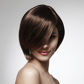 Short Natural Straight Bob Style 100% Human Hair Wig WigSuperDeal.com | African American Wigs | Scoop.it