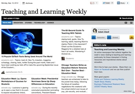 Sep 10 - Teaching and Learning Weekly | Studying Teaching and Learning | Scoop.it