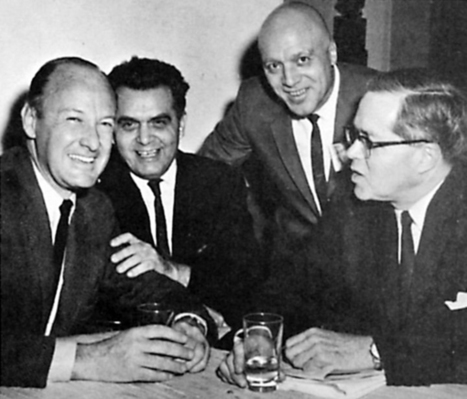 """Stan Lee and Jack Kirby at a cartoonist's dinner,... 