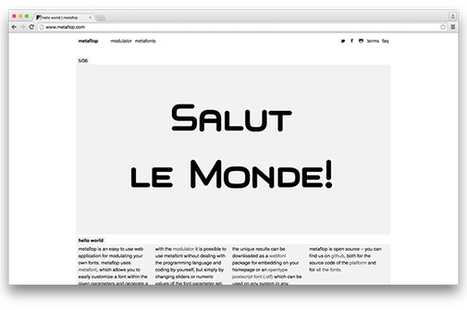 Create your own typefaces with code | Digital Creatives | Scoop.it
