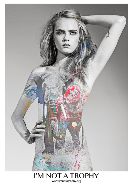 Cara Delevingne Looks Lion-Fierce in 'I'm Not a Trophy' Anti-Poaching Campaign | Trophy Hunting: It's Impact on Wildlife and People | Scoop.it