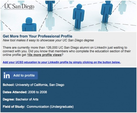 LinkedIn Opens Up Profiles to Higher Education Partners with One-Click Program | All About LinkedIn | Scoop.it