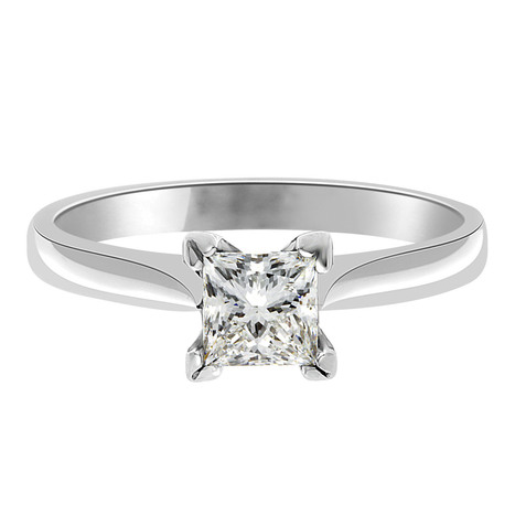 Grace Engagement Ring - Princess Cut Engagement Ring in White Gold | Engagement rings Dublin Blog. | Scoop.it