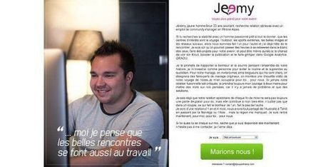 CV original : un community manager copie Meetic pour trouver un job - Terrafemina | About Community Management | Scoop.it
