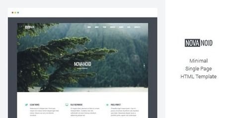 Simple one page HTML template based on Bootstrap 3 - Download New Themes | Web Development | Scoop.it