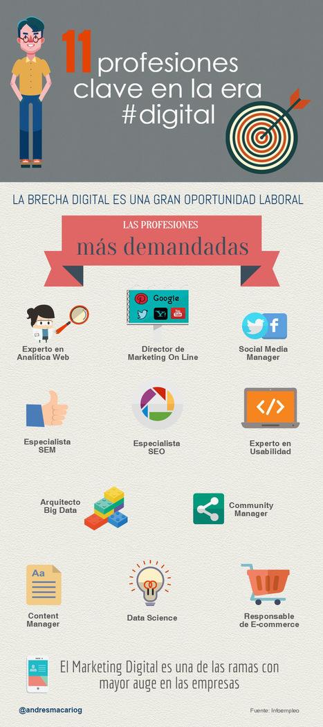 11 profesiones clave en la era digital #infografia #infographic #empleo | Educación con tecnología | Scoop.it