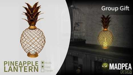 Pineapple Lamp Group Gift by MadPea | Teleport Hub - Second Life Freebies | Second Life Freebies | Scoop.it