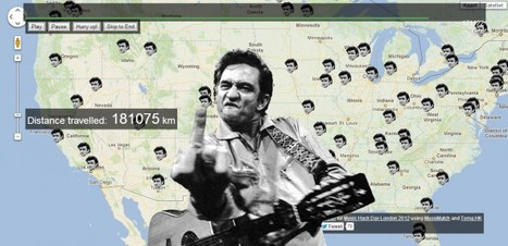 Johnny Cash Has Been Everywhere (Man)! | Geography Education | Scoop.it