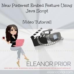 New Pinterest Embed Feature Using Java Script - Eleanor Prior | Pinterest | Scoop.it