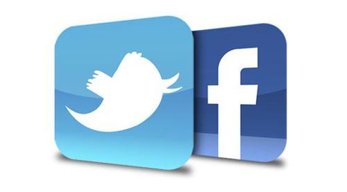 logos twitter et facebook