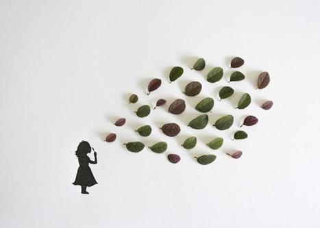 Illustrations par Tang Chiew Ling : Feuilles Vertes et Silhouettes à l'Encre | ILLUSTRATION | Scoop.it