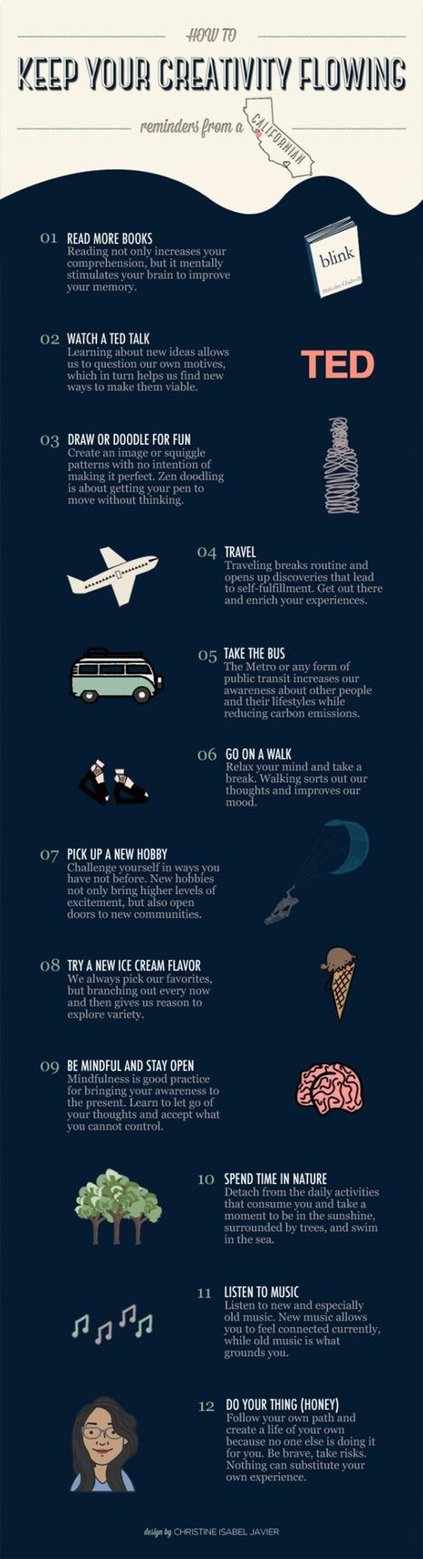 Cómo mantener viva tu #creatividad #infografia #infographic | Sociedad 3.0 | Scoop.it