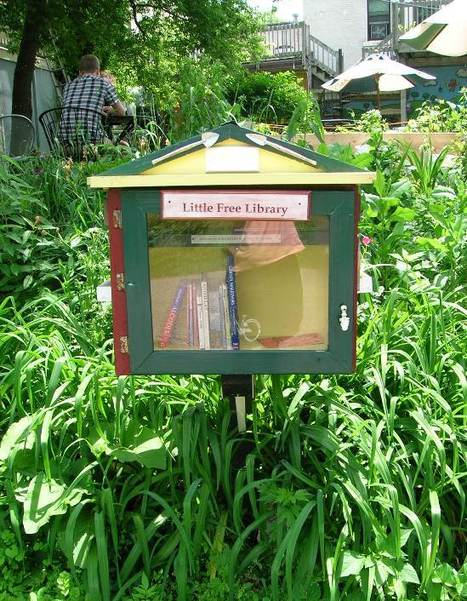 Little Free Libraries Are Coming to Town – The Sweet Pursuit – Utne Reader | Garden Libraries | Scoop.it