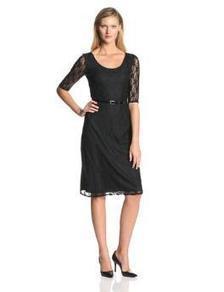 Star Vixen Women's Elbow-Sleeve Lace Midi Dress with Belt | btklwl | Scoop.it