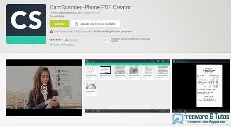 CamScanner : une application Android pour transformer votre smartphone en scanner | Webmarketing et Réseaux sociaux | Scoop.it