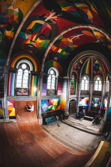 A 100-Year-Old Church in Spain Transformed into a Skate Park Covered in Murals by Okuda San Miguel | Designed for Form and Function ....Chairs and Other Objects | Scoop.it
