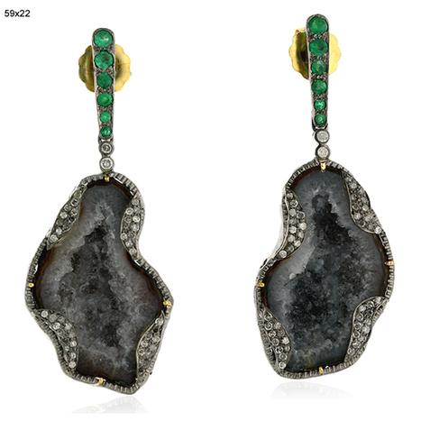 Emerald Geode Earrings | Wholesale Jewelry | GemcoDesigns | randomness | Scoop.it