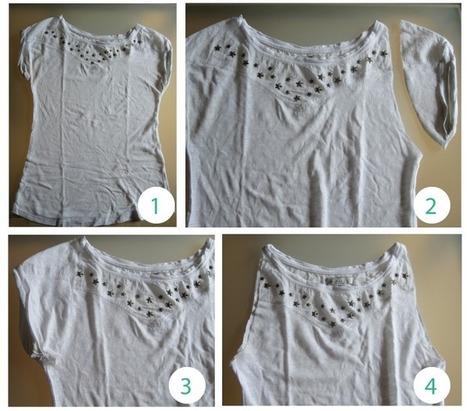 Tutorial: Camiseta personalizada con macramé   El invernadero creativo   DIY & Crafts   Scoop.it