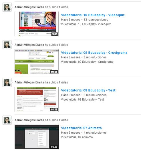Videotutoriales Herramientas TIC Web 2.0 2014 - E-Historia