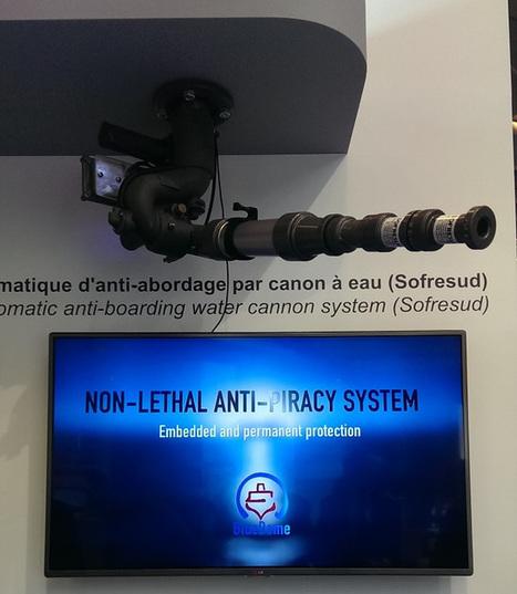 Le consortium Autoprotection de Sagem lance BlueDome, un nouveau système non léthal anti-pirates à Euromaritime 2015 | Newsletter navale | Scoop.it