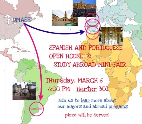 SPANISH AND PORTUGUESE OPEN HOUSE AND STUDY ABROAD MINI-FAIR | The UMass Amherst Spanish & Portuguese Program Newsletter | Scoop.it