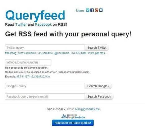2 services pour récupérer des flux RSS de Twitter, TwitRSS et Querryfeed | Outils et pratiques du web | Scoop.it