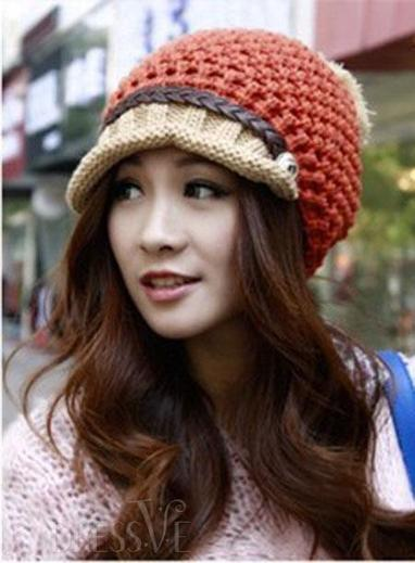 Stunning Chic Lovely New Arrival Knit Leather Belt Woolen Yarn Hat | Fashion Zone | Scoop.it