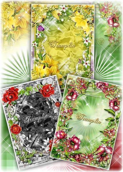 Marcos románticos flores para tus fotos en psd | Riojanito.com ...