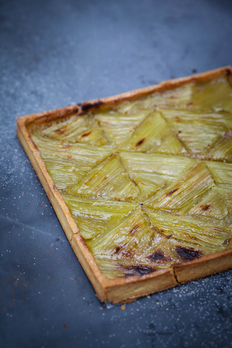 Recette Food geometry : la tarte à la rhubarbe | CduBeau ! | Food sucré, salé | Scoop.it