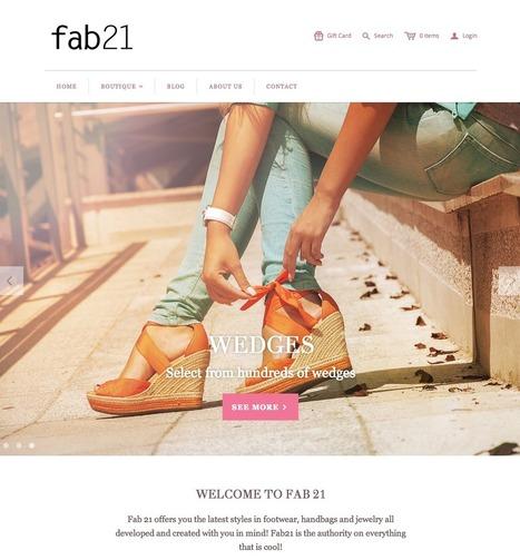 Fab21 - Shopify ecommerce website | Web design | Scoop.it