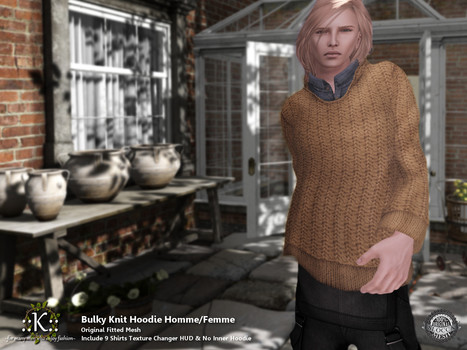 ::K::: ::K:: Bulky Knit Hoodie Homme/Femme @ Shiny Shabby   Style of LIFE   Scoop.it