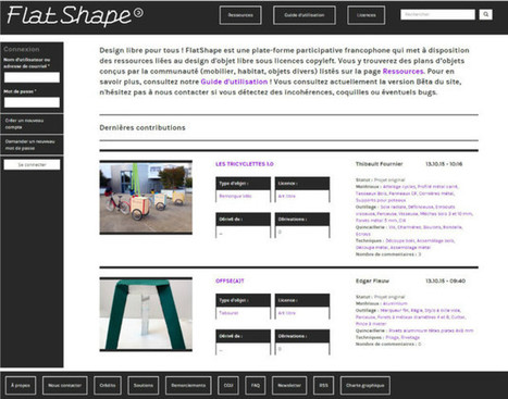 Flatshape : une plate-forme web de design libre par Ultra éditions | Innovations urbaines | Scoop.it