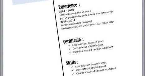 Diagonal Resume Template For MS Word to Download | Free Printables Templates to Download | Scoop.it