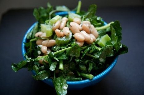 White Bean, Celery and Cress with a Blue Cheese Vinagrette  recipe on Food52.com | 4-Hour Body Bean Cookbook | Scoop.it
