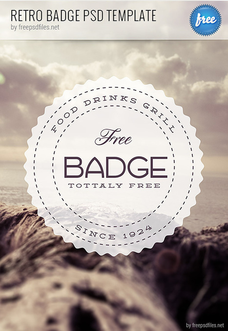 Retro Badge PSD Template - Free PSD Files | Daywalker | Scoop.it