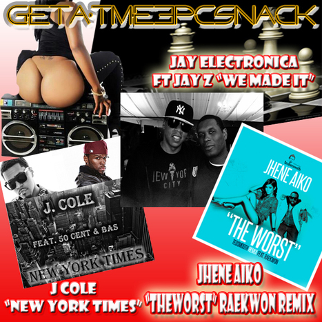 "Tonight on blogtalkradio.com/getatmenow our 3PcSnack is ""WeMadeIt"" JayElectronica ft JayZ 