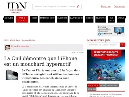 La Cnil démontre que l'iPhone est un mouchard hyperactif - Websourcing.fr | Geeks | Scoop.it