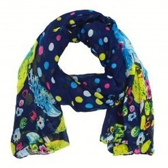 Lulu Navy Multi Print Scarf | scarfuniverse | Scoop.it